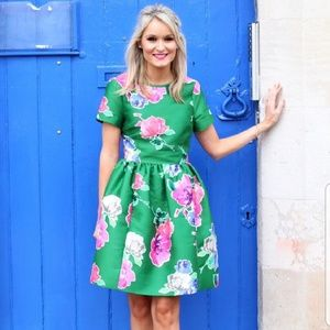 Kate Spade In full Bloom Stelli Green Floral Dress